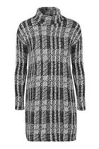Topshop Cut And Sew Check Tunic Dress