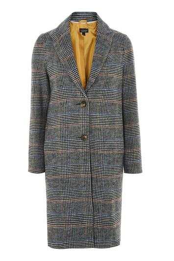 Topshop Petite Checked Coat