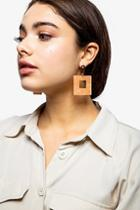 Topshop *square Resin Drop Earrings