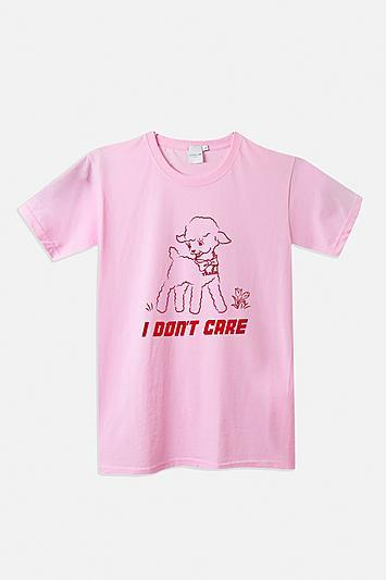 Topshop *i Don't Care T-shirt By Skinnydip