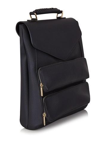 Topshop *black Archer Backpack By Skinnydip