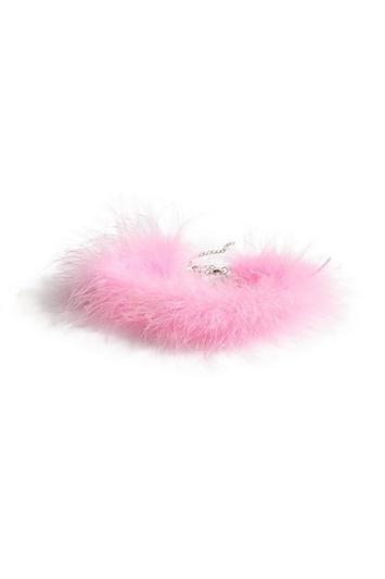 Topshop *feather Choker