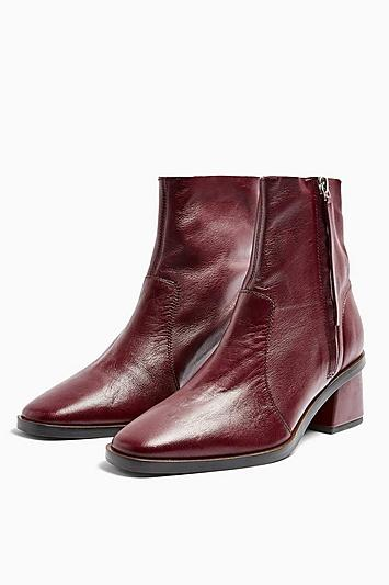 Topshop Margot Unlined Leather Boots