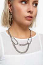 Topshop *carabina Multirow Chain Necklace