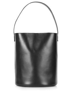 Topshop Premium Leather Bucket Bag