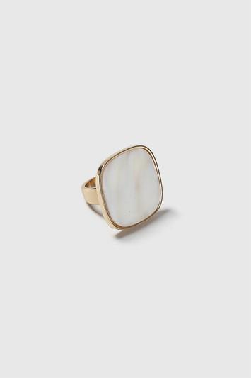 Topshop Pearl Square Cocktail Ring