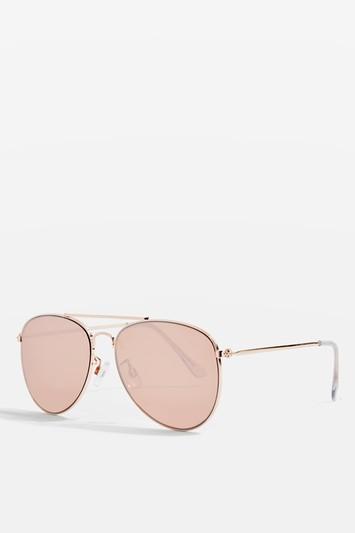 Topshop Flat Aviator Sunglasses