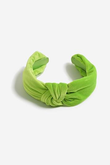 Topshop *neon Velvet Knot Headband