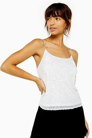 Topshop Embellished Sequin Camisole