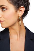 Topshop *snake Drop Hoop Earrings