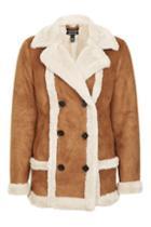 Topshop Faux Fur Shearling Jacket