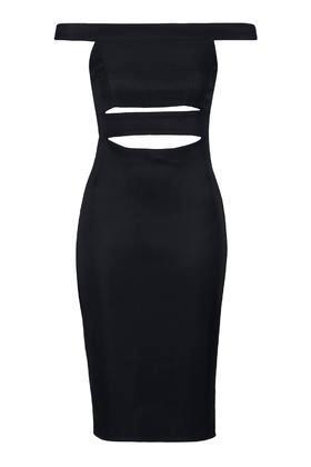 Topshop Slash Bardot Midi Dress