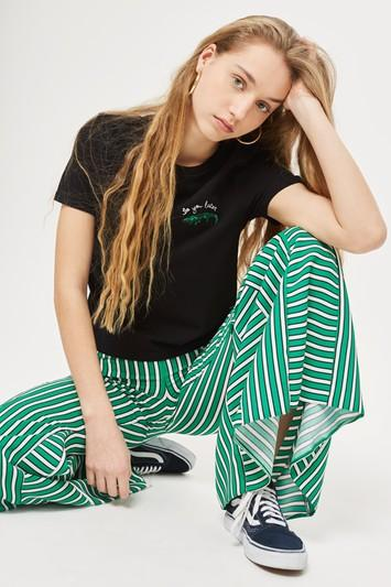 Topshop Alligator Motif T-shirt