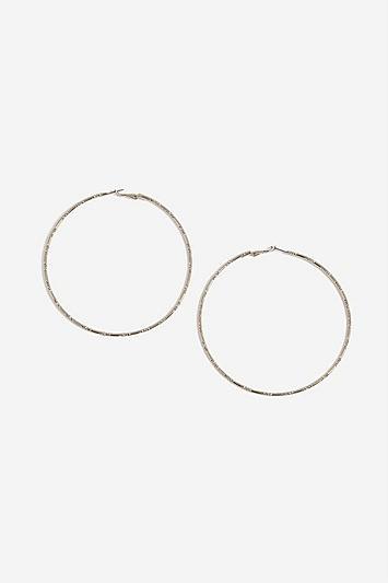 Topshop Facet Cut Section Hoops Earrings
