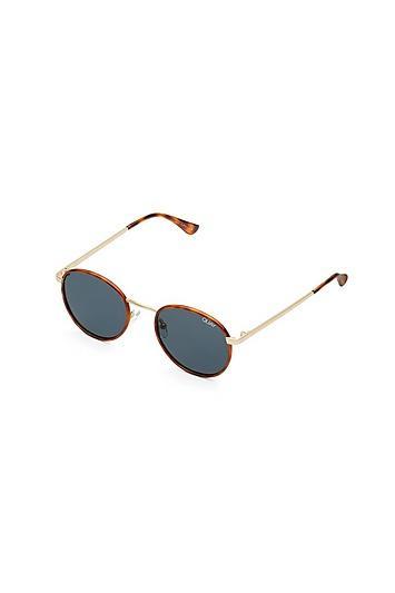 Quay Sunglasses *orange Tort And Navy Sunglasses By Quay Australia