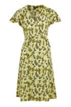 Topshop Petite Ditsy Floral Wrap Midi Dress