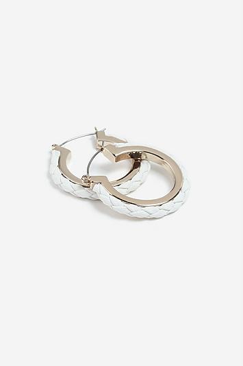 Topshop *fabric Inlay Hoop Earrings