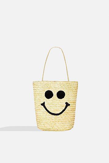 Topshop *smile Raffia Shoulder Bag By Skinny Dip