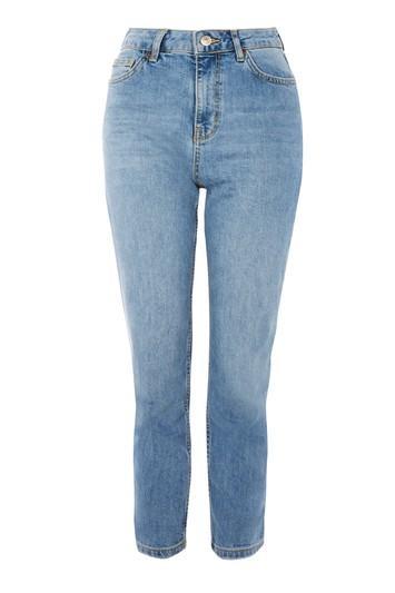 Topshop Petite Mid Blue Orson Jeans
