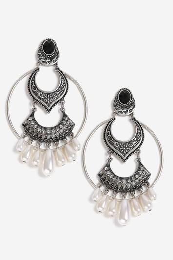 Topshop Ethnic Pearl Drop Earrings