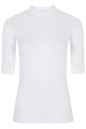 Topshop Ribbed Funnel Neck Top