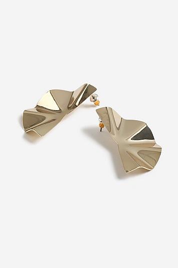 Topshop Semi Circle Crushed Studs Earrings