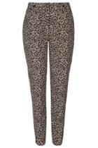 Topshop Leopard Print Cigarette Trousers