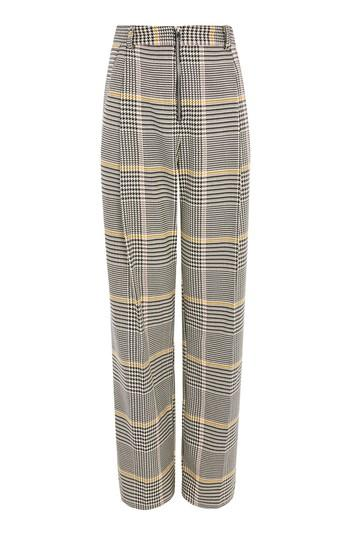 Topshop Bright Checked Wide Leg Trousers
