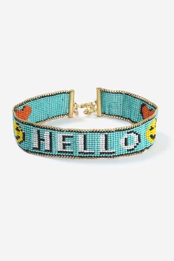Topshop Hello' Beaded Choker Necklace
