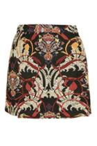 Topshop Tall Rambler Jacquard Skirt
