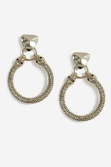 Topshop Snake Head Door Knocker Earrings