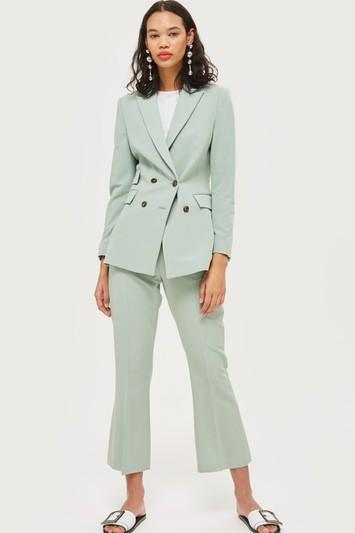 Topshop Kick Flare Suit Trousers