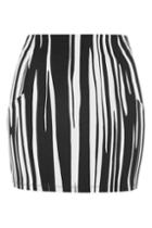 Topshop Oil Stripe Mini Skirt