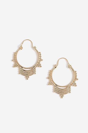 Topshop *ball Hoop Earrings