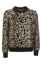 Topshop Animal Mohair Jumper