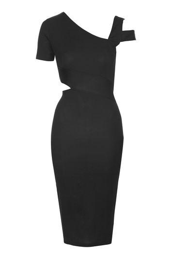 Topshop Asymmetric Bodycon Dress