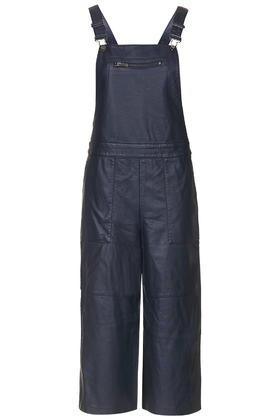Topshop Pu Pinafore All-in-one