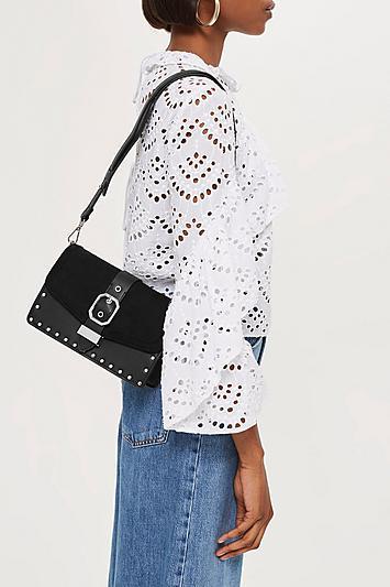 Topshop Megan Buckle Cross Body Bag