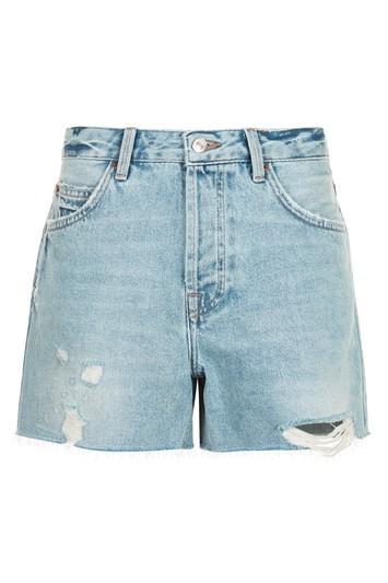 Topshop Moto Bleach Boyfriend Shorts