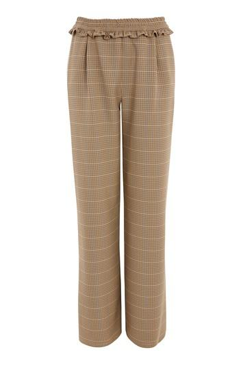 Topshop Houndstooth Check Wide Leg Trousers