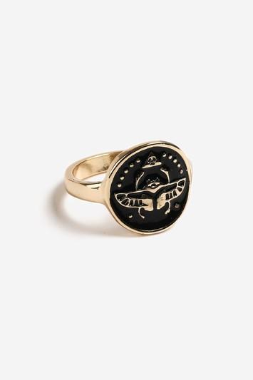 Topshop Enamel Disc Ring