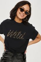 Topshop Tall 'wild' Slogan T-shirt