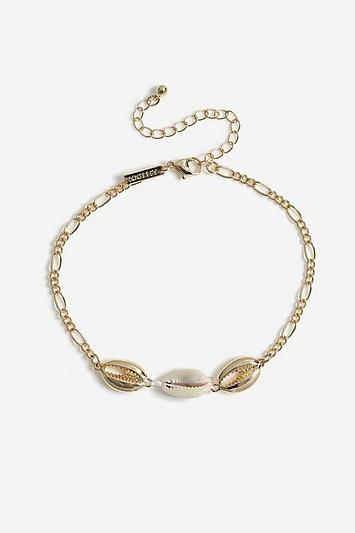 Topshop *shell Chain Anklet