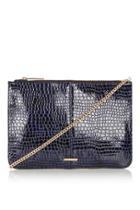 Topshop Zip-top Clutch Bag