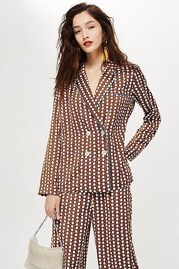 Topshop Geometric Print Pyjama Jacket