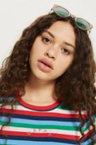 Topshop Tall 'happy' Slogan Rainbow T-shirt
