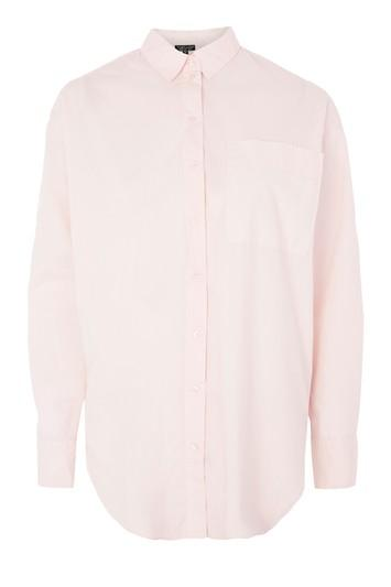 Topshop Oversized Cotton Poplin Shirt