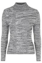 Topshop Ribbed Roll Neck Jumper