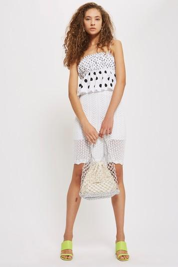 Topshop Pencil Midi Skirt