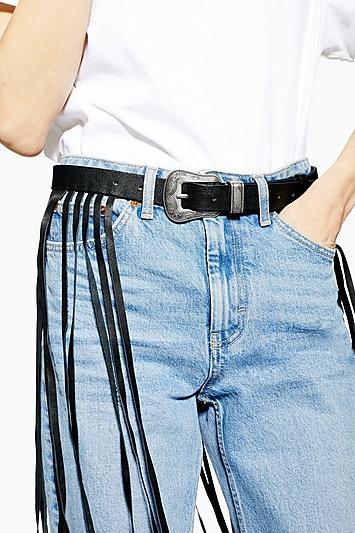 Topshop Maxi Fringe Belt